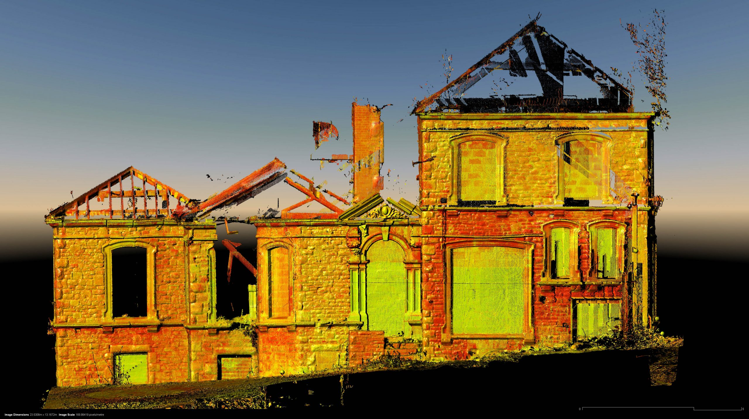 Laser scan of listed building